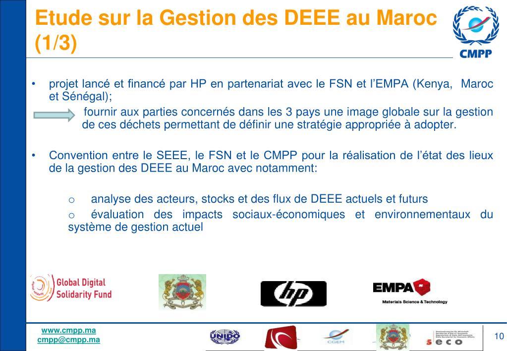 Etude sur la Gestion des DEEE au Maroc (1/3)