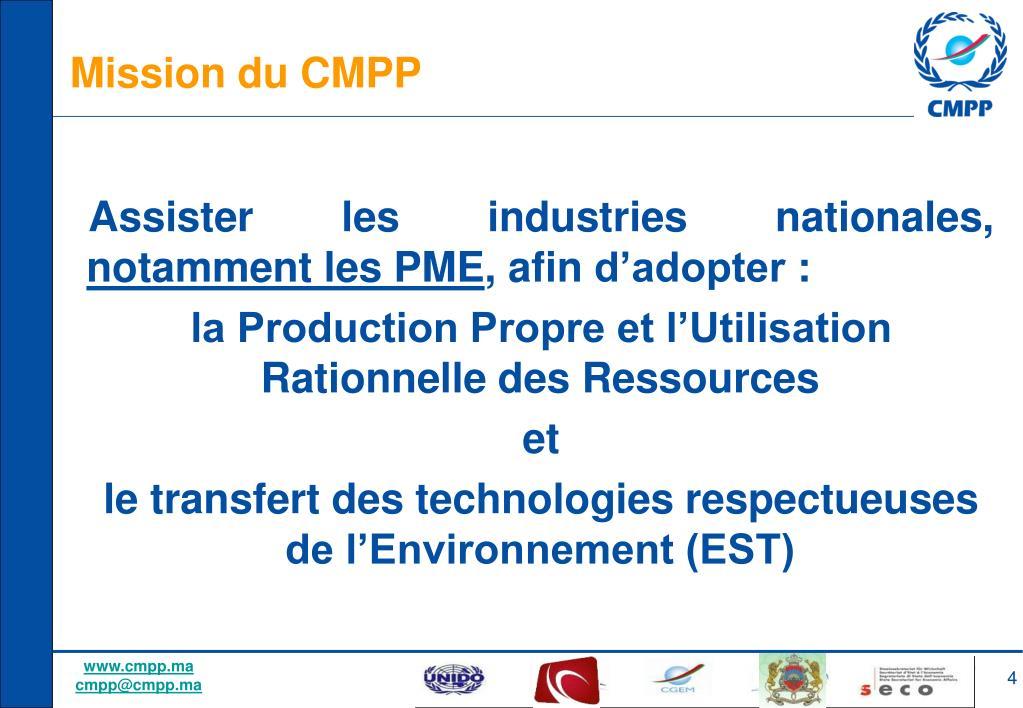 Mission du CMPP