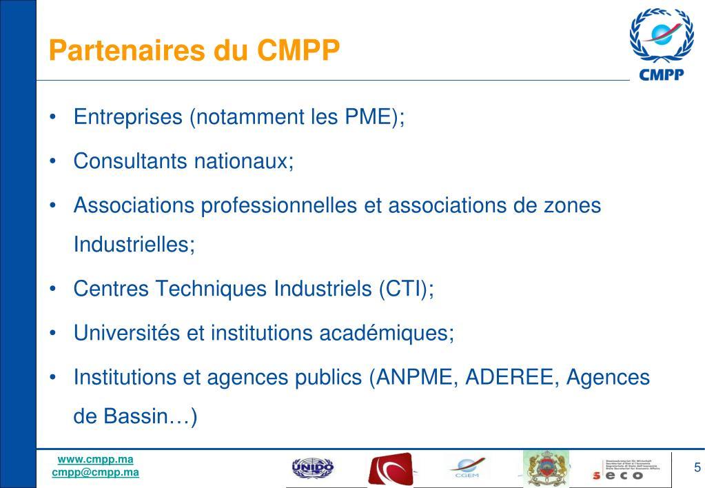 Partenaires du CMPP