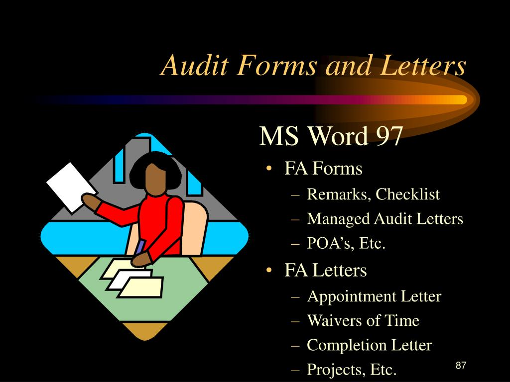 Audit Forms and Letters