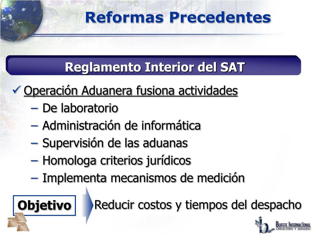 Reformas Precedentes