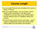 course length