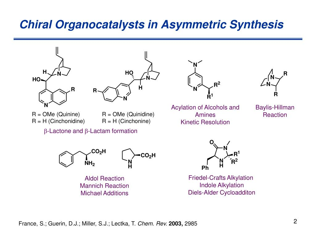 Chiral Organocatalysts in Asymmetric Synthesis