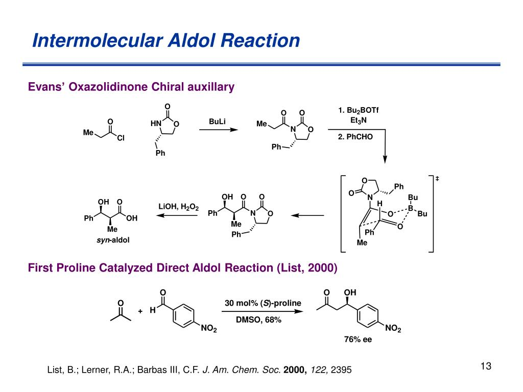 Intermolecular Aldol Reaction