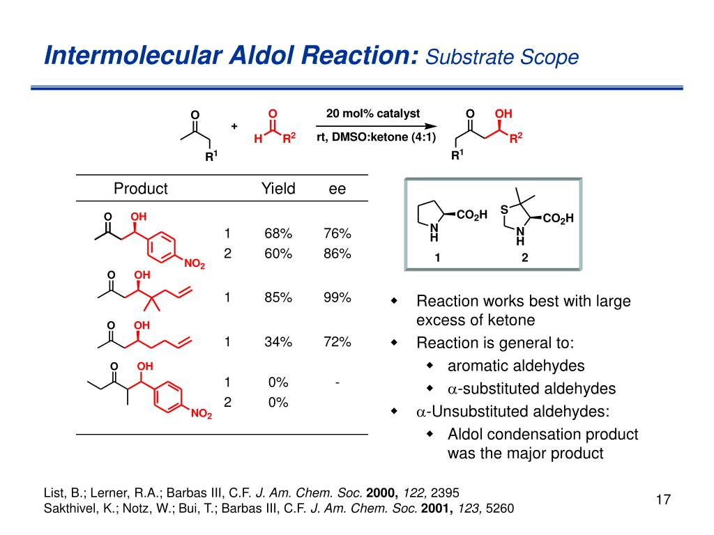 Intermolecular Aldol Reaction: