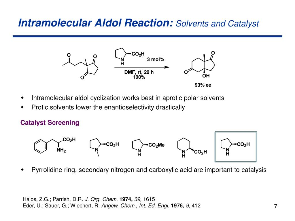 Intramolecular Aldol Reaction: