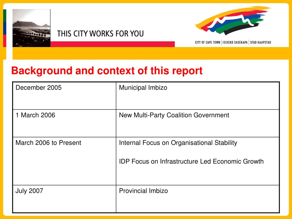 Background and context of this report