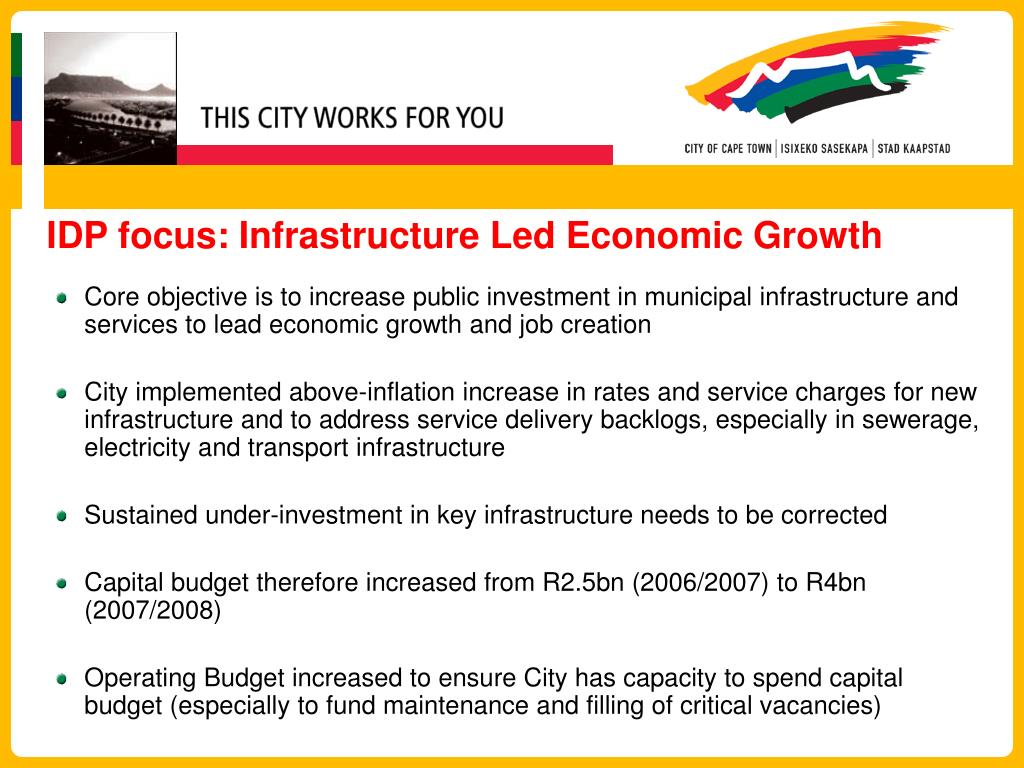 IDP focus: Infrastructure Led Economic Growth