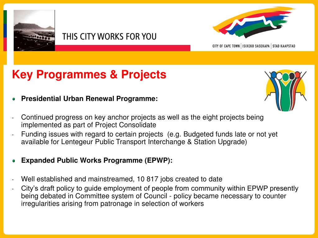 Key Programmes & Projects