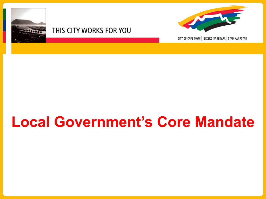 Local Government's Core Mandate