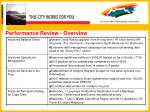 performance review overview