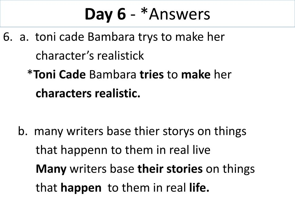 "a day in sylvias everyday life in the story the lesson by toni cade bambara Summary of the lesson it is a summer day, sylvia isn't happy when "" though toni cade bambara wrote this story about the african american."