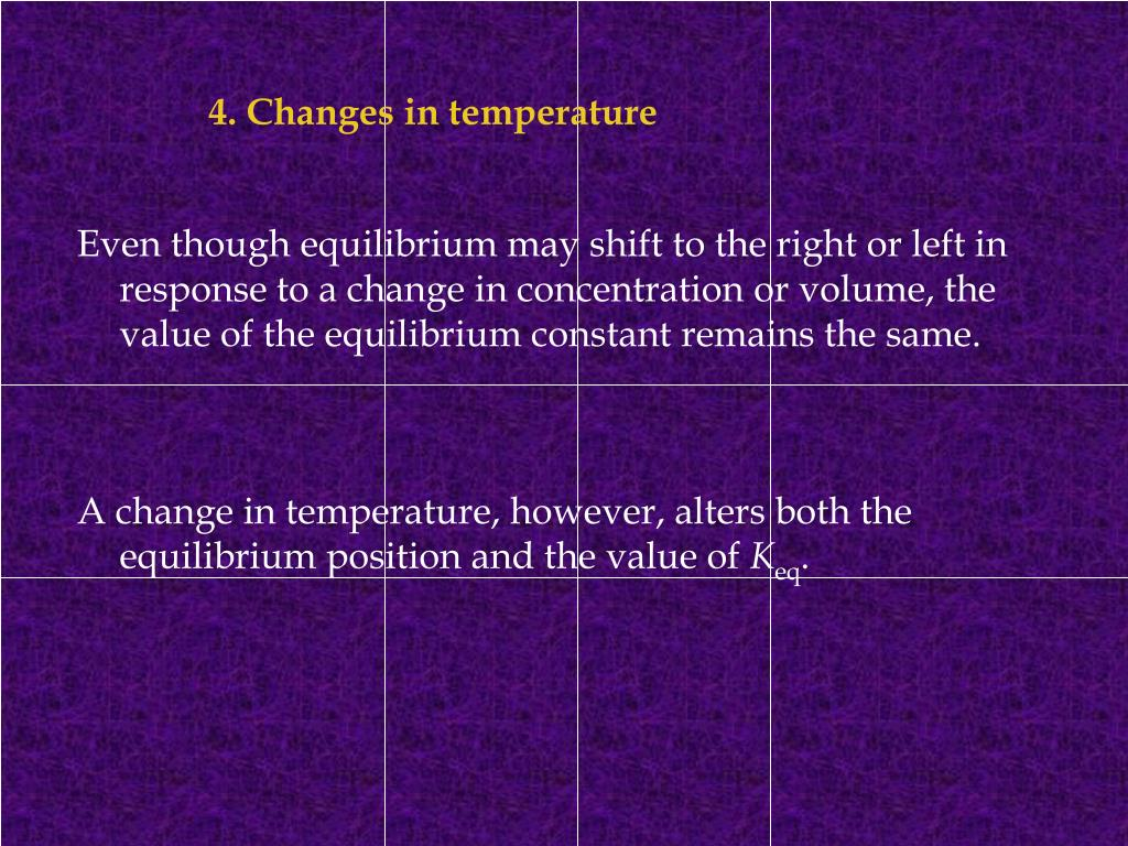 4. Changes in temperature