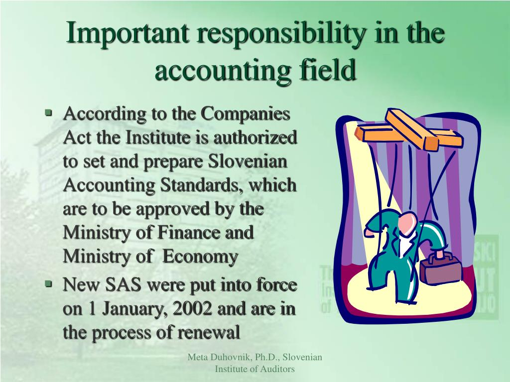 Important responsibility in the accounting field