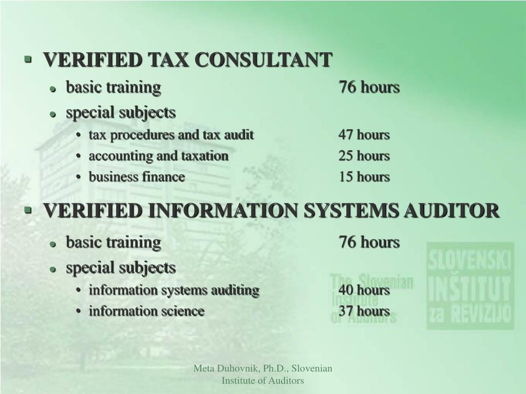 VERIFIED TAX CONSULTANT