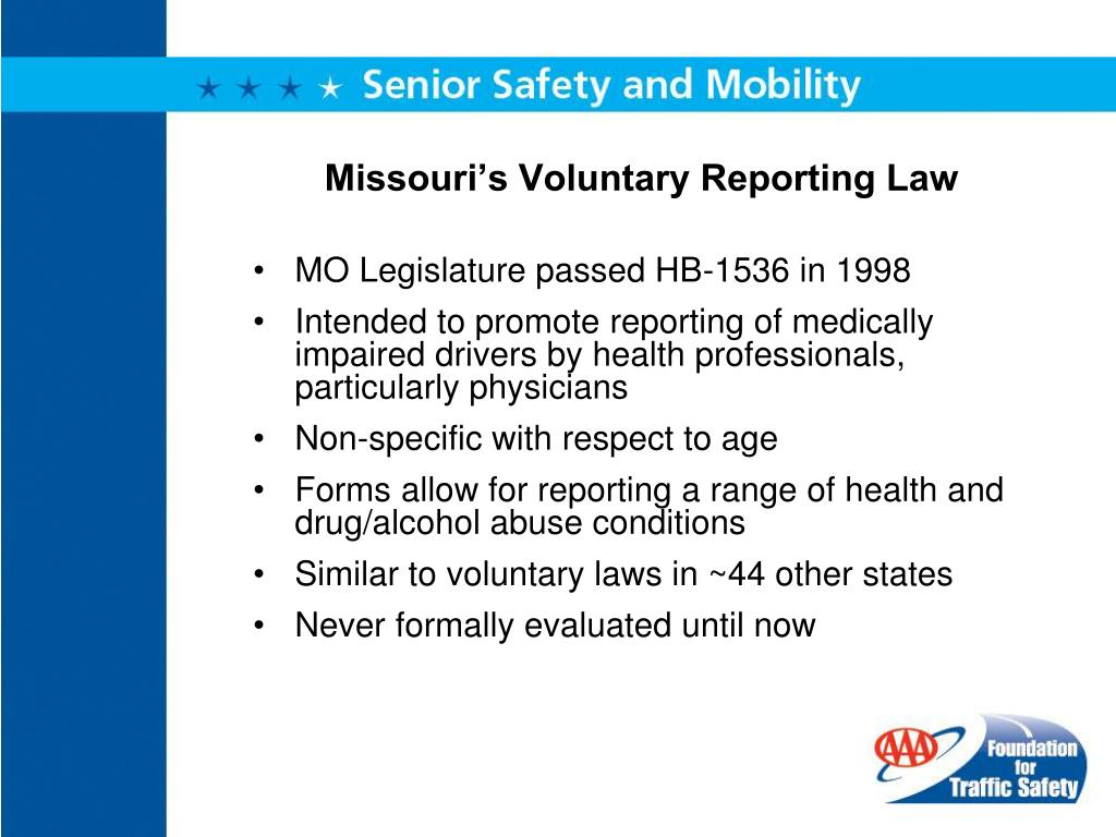 Missouri's Voluntary Reporting Law