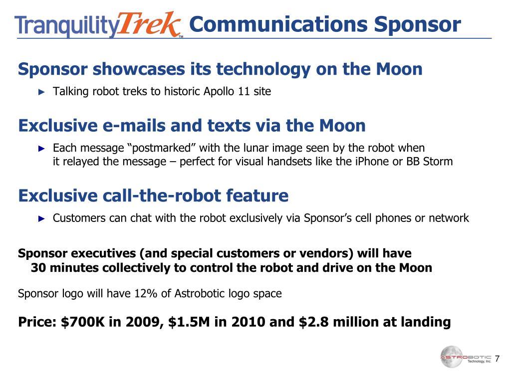 Communications Sponsor
