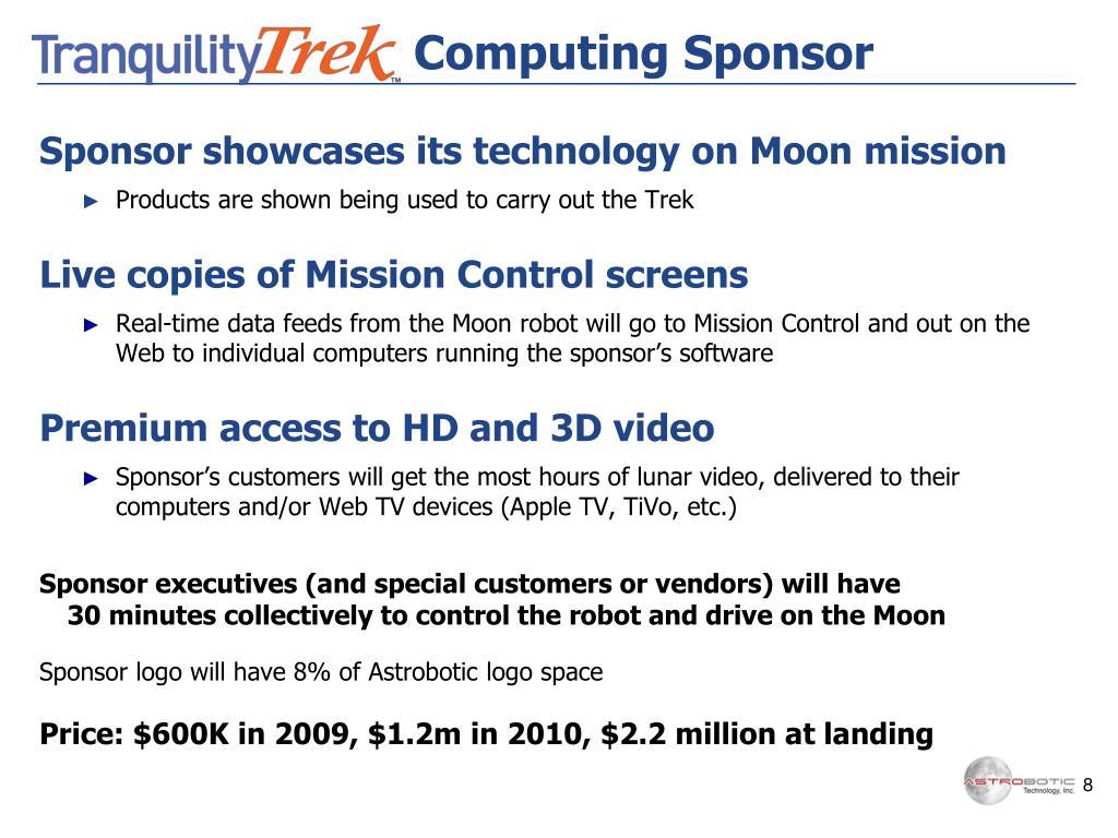 Computing Sponsor