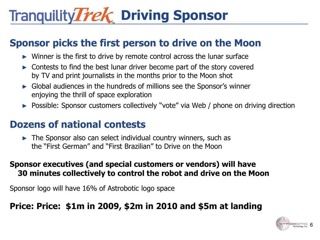Driving Sponsor