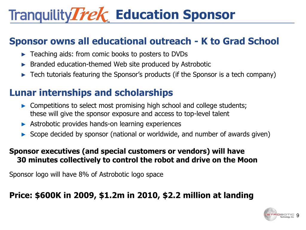 Education Sponsor