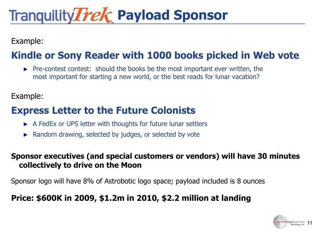 Payload Sponsor
