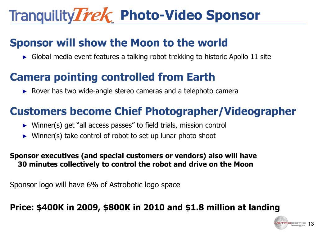 Photo-Video Sponsor