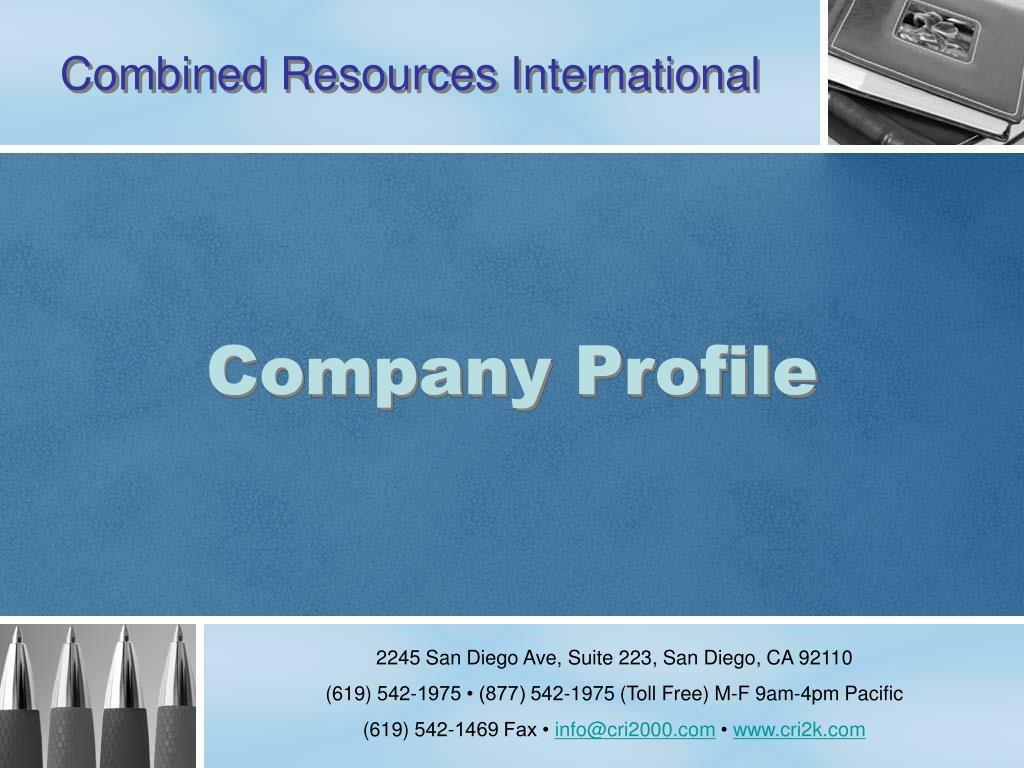 combined resources international