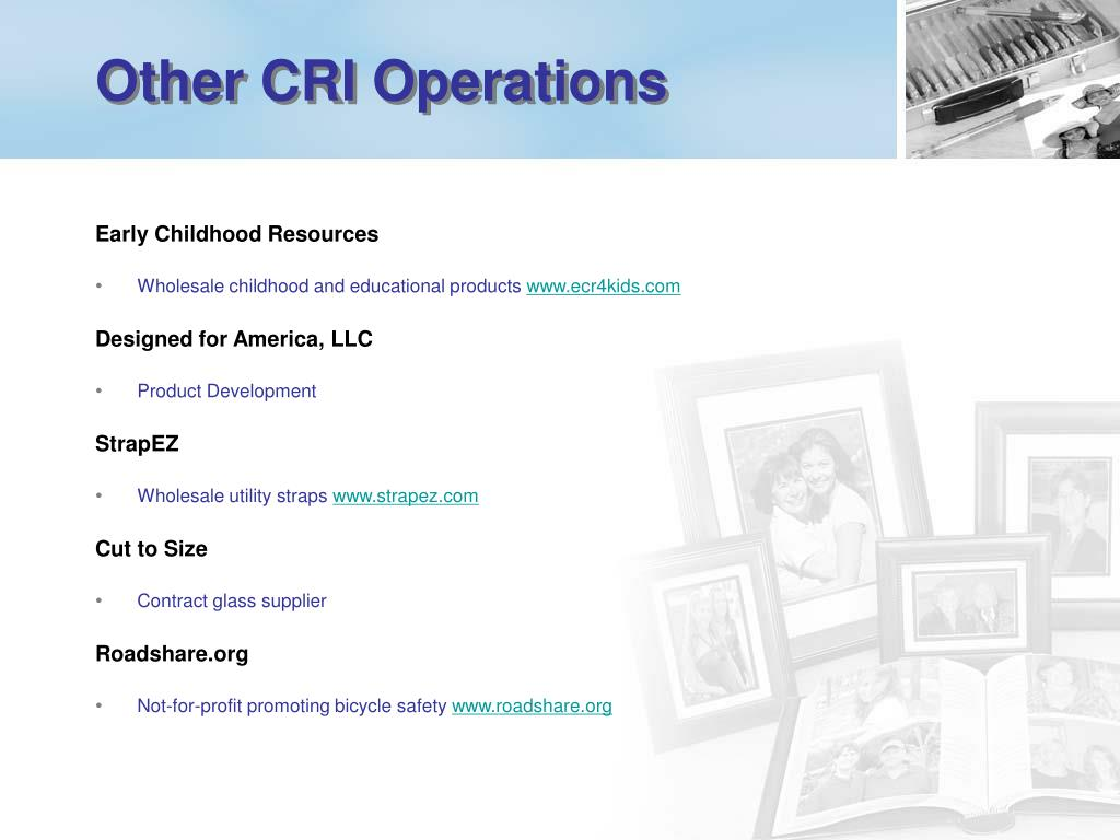 Other CRI Operations