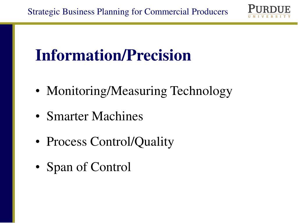 Information/Precision