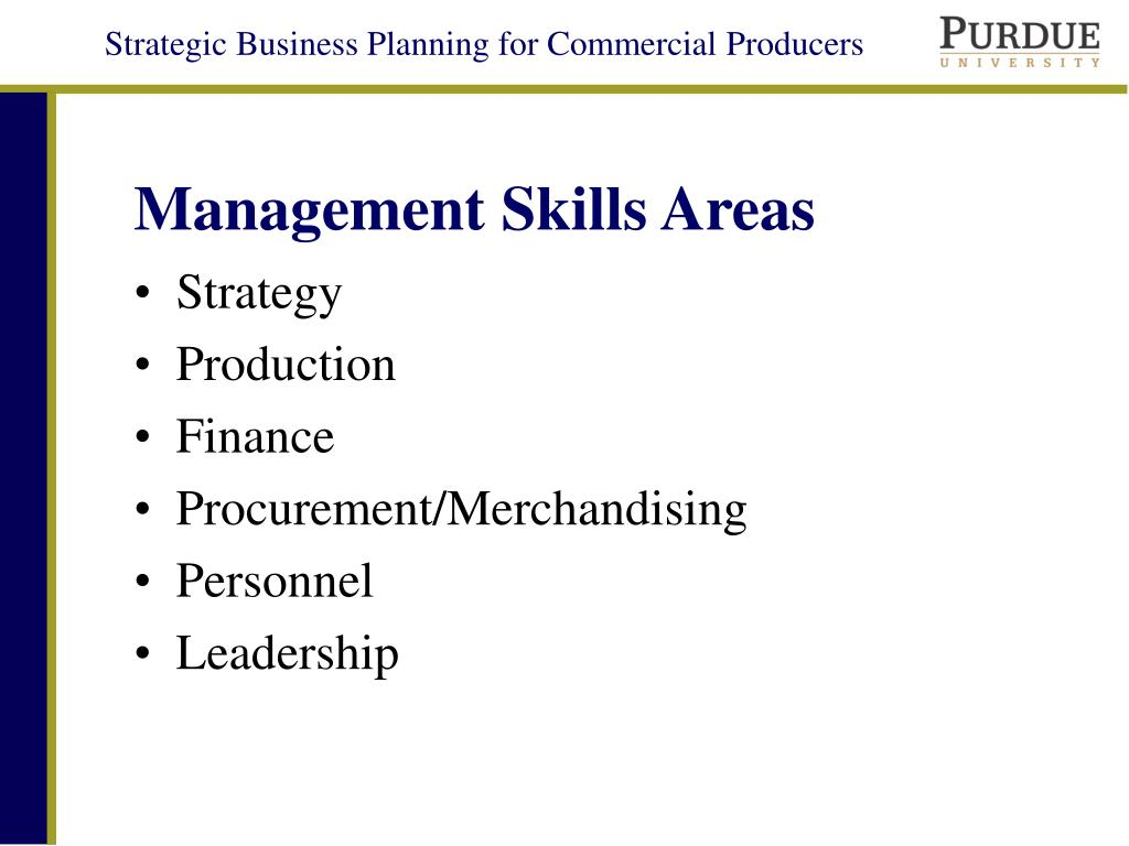 Management Skills Areas