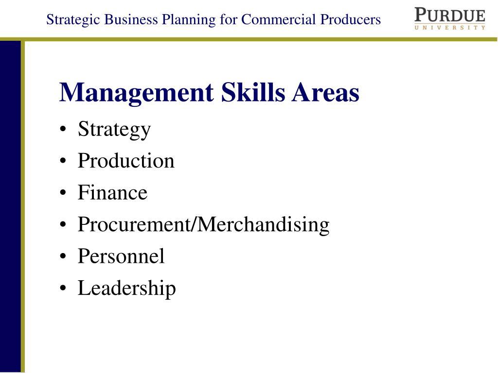 Management Skills Areas