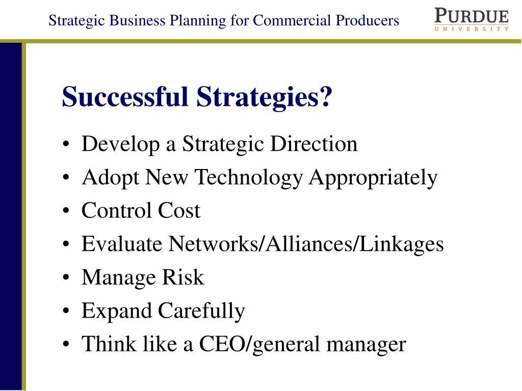 Successful Strategies?