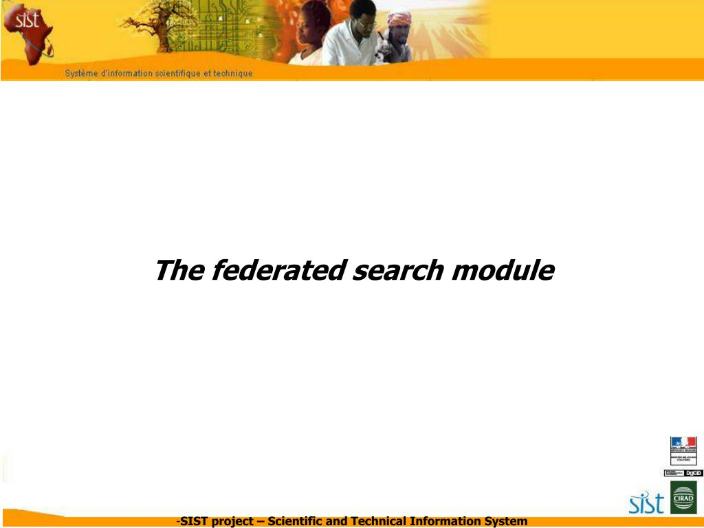 The federated search module