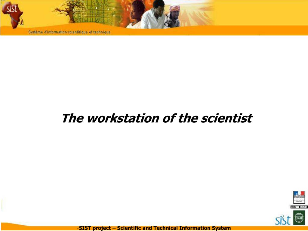 The workstation of the scientist