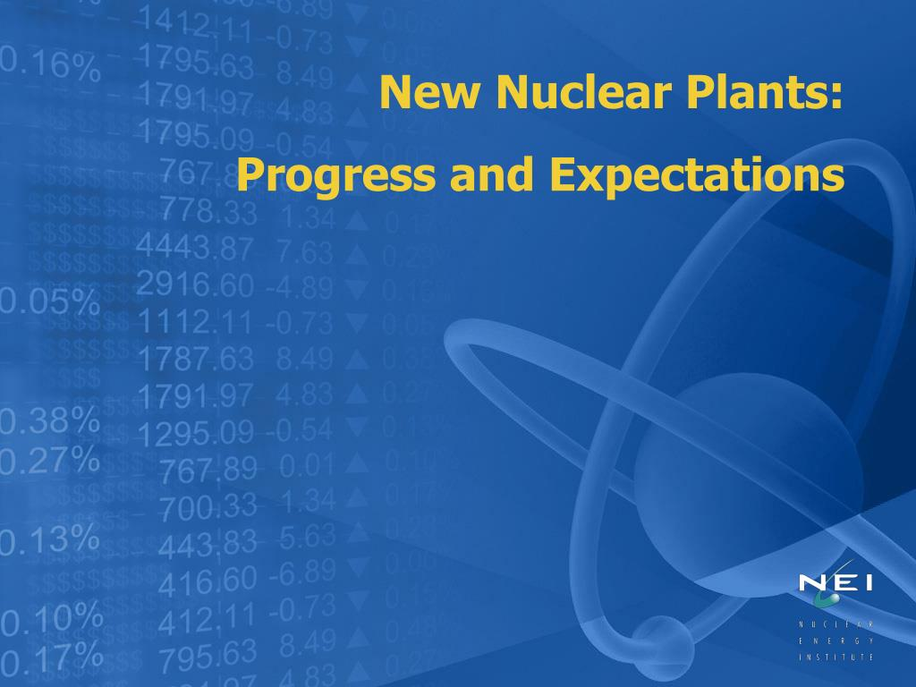 New Nuclear Plants: