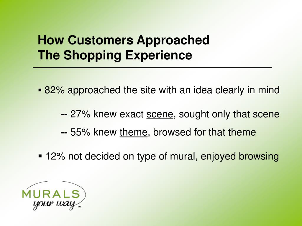 How Customers Approached           The Shopping Experience