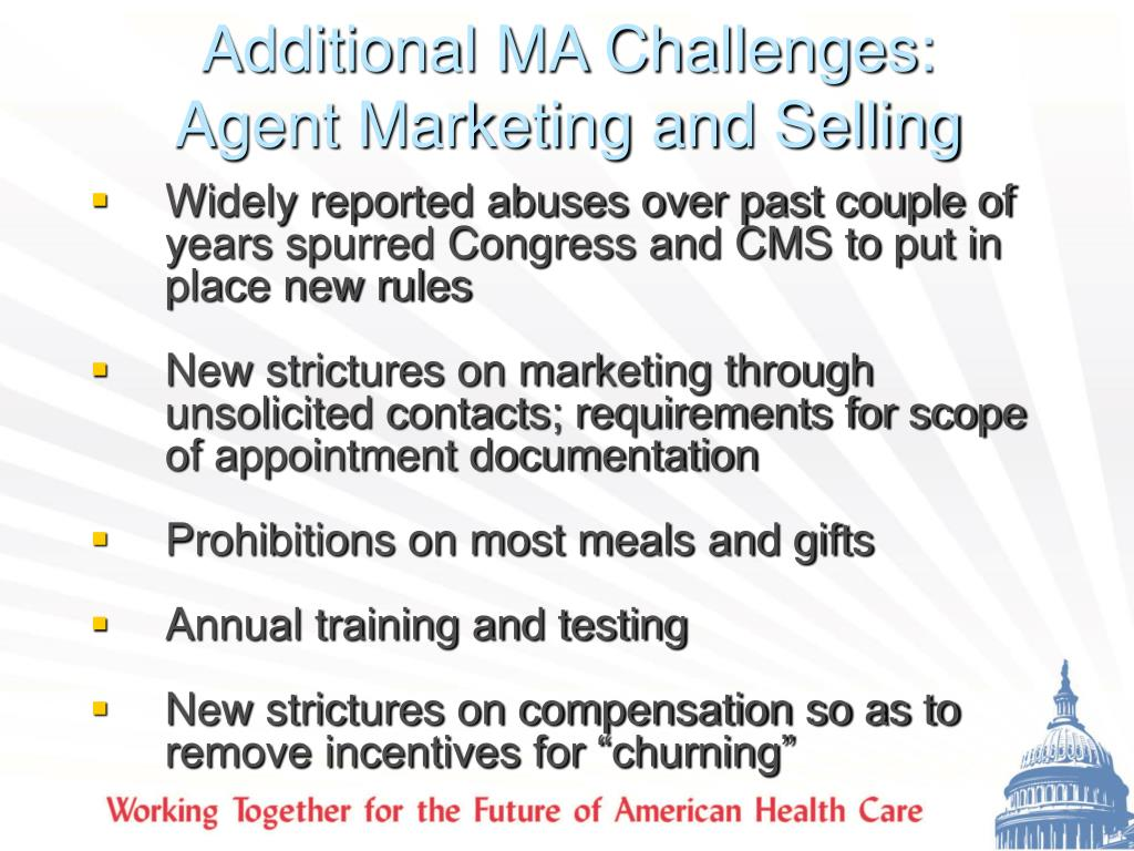 Additional MA Challenges: