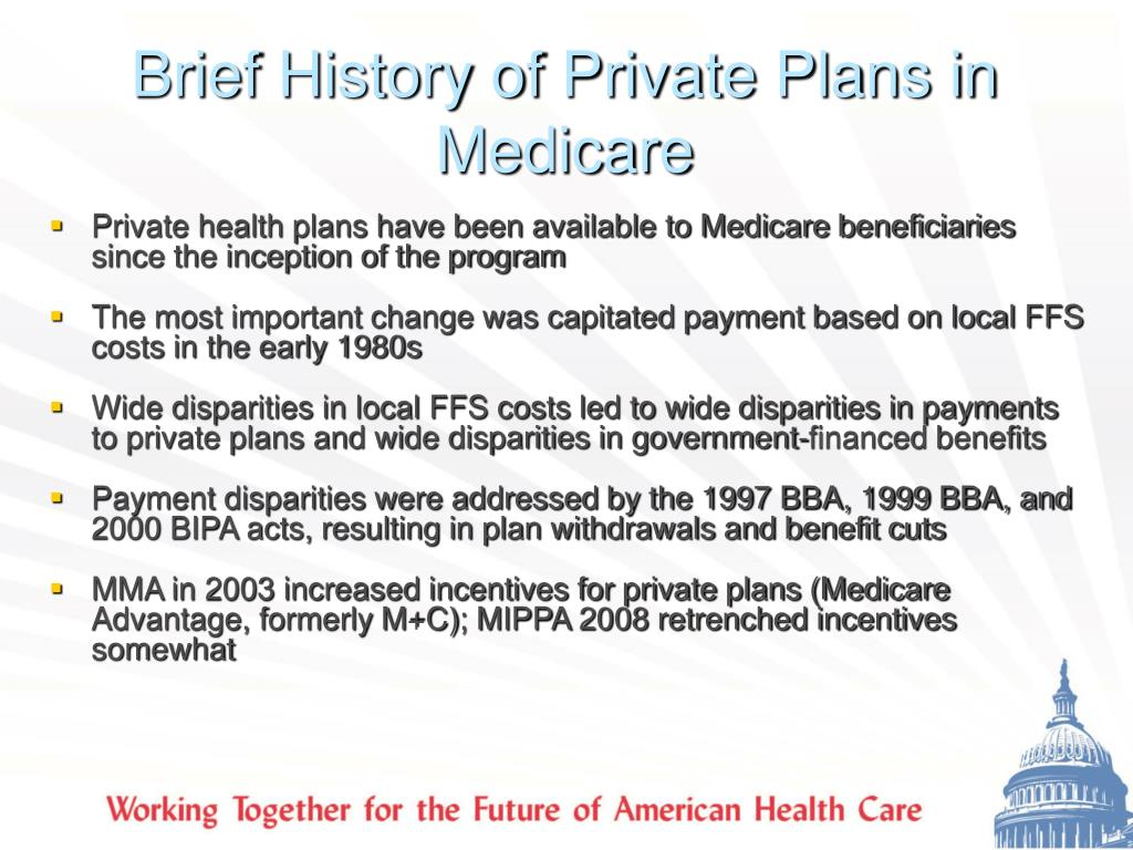 Brief History of Private Plans in Medicare