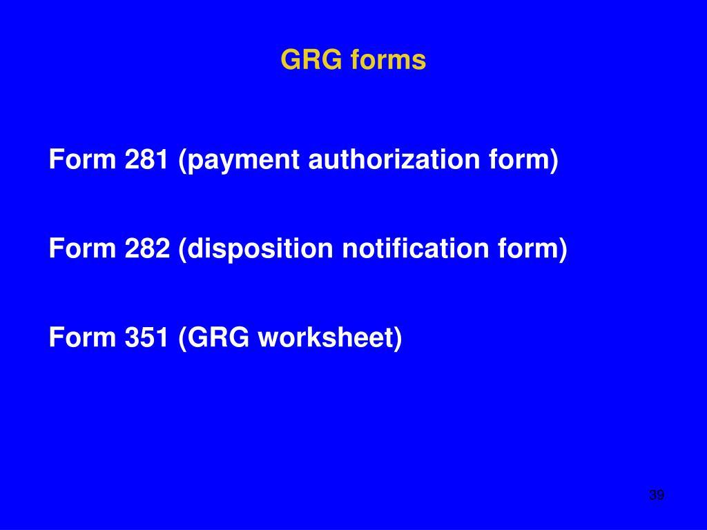 GRG forms
