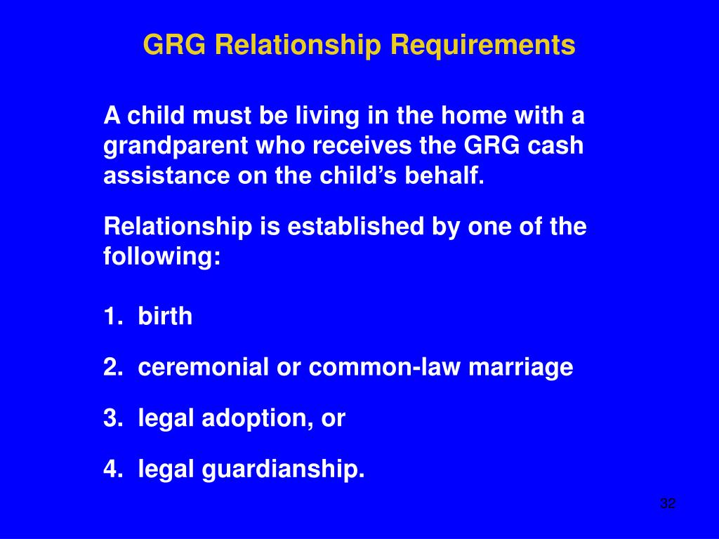 GRG Relationship Requirements