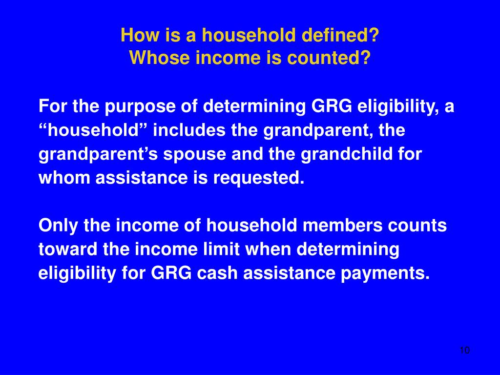 How is a household defined?