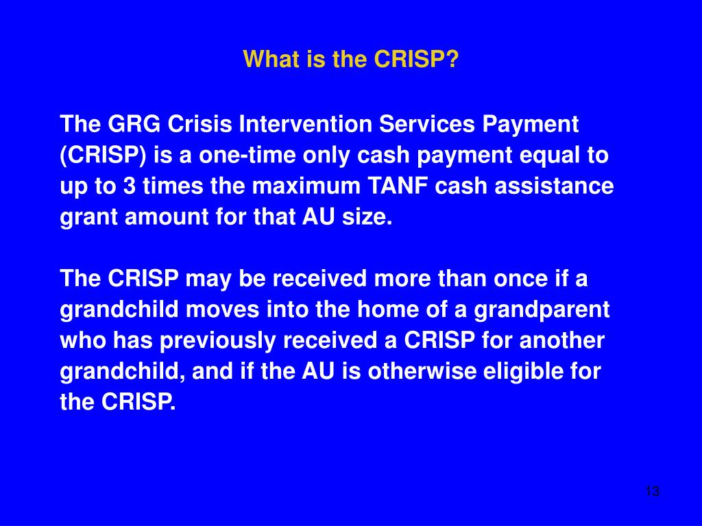 What is the CRISP?
