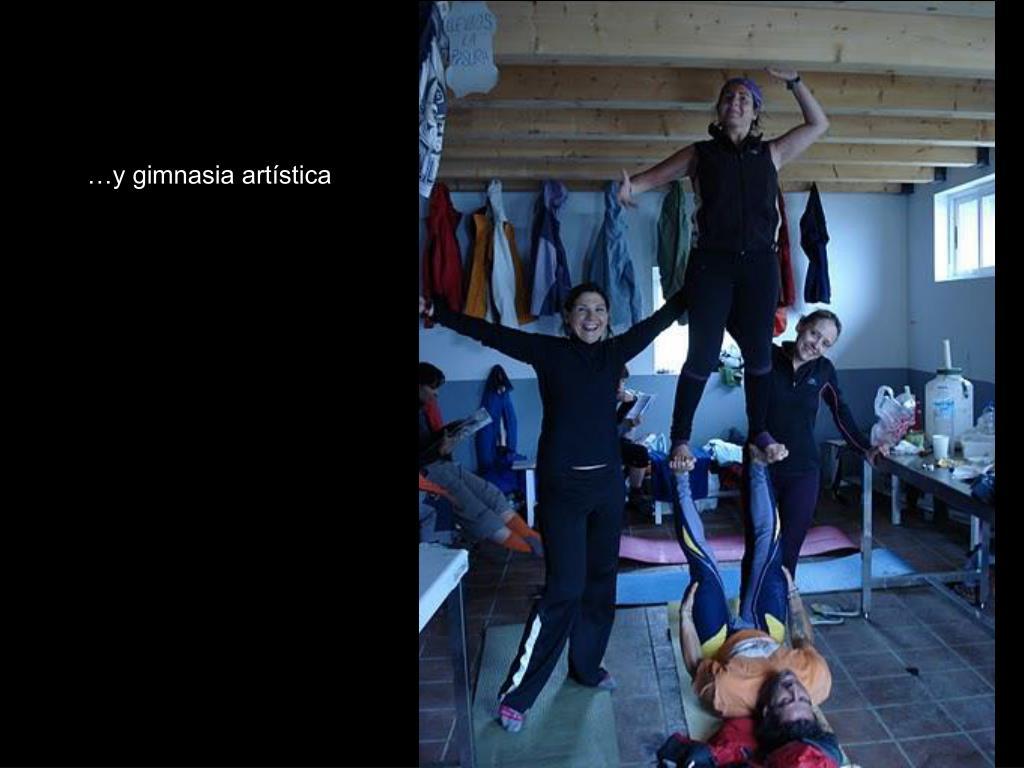 …y gimnasia artística