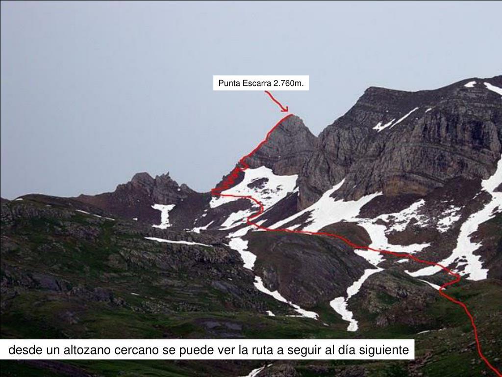 Punta Escarra 2.760m.