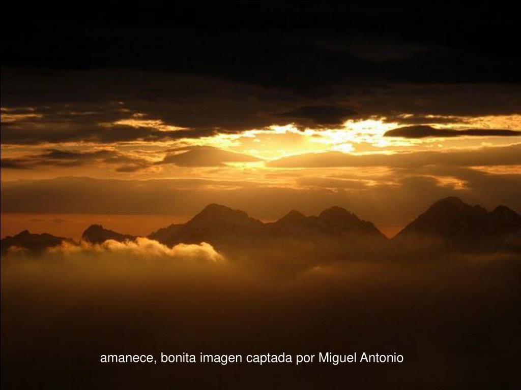 amanece, bonita imagen captada por Miguel Antonio