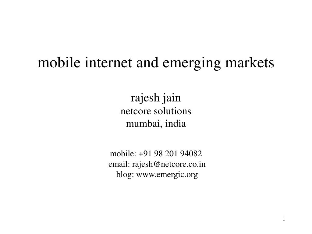 mobile internet and emerging markets