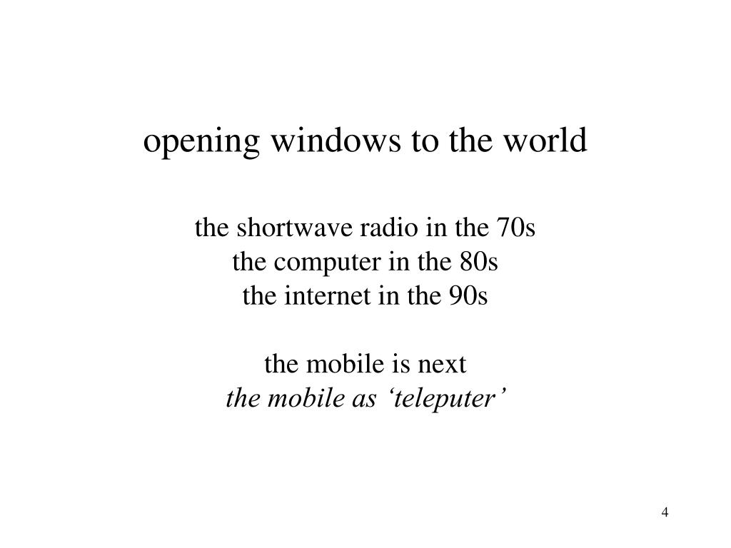 opening windows to the world