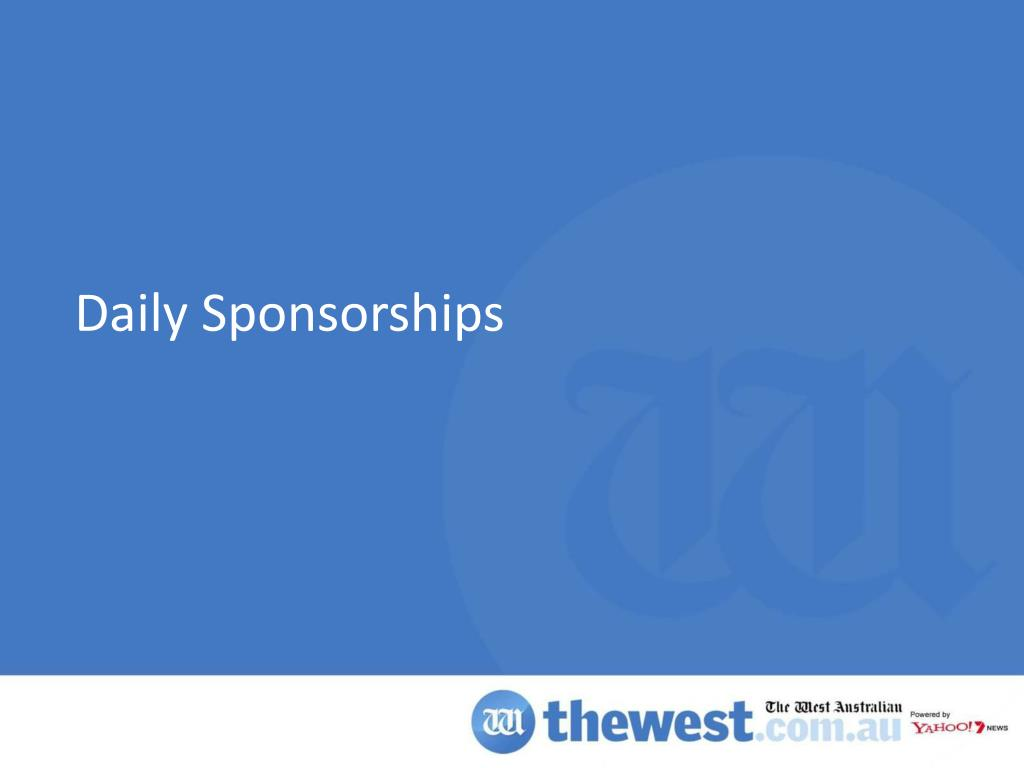 Daily Sponsorships