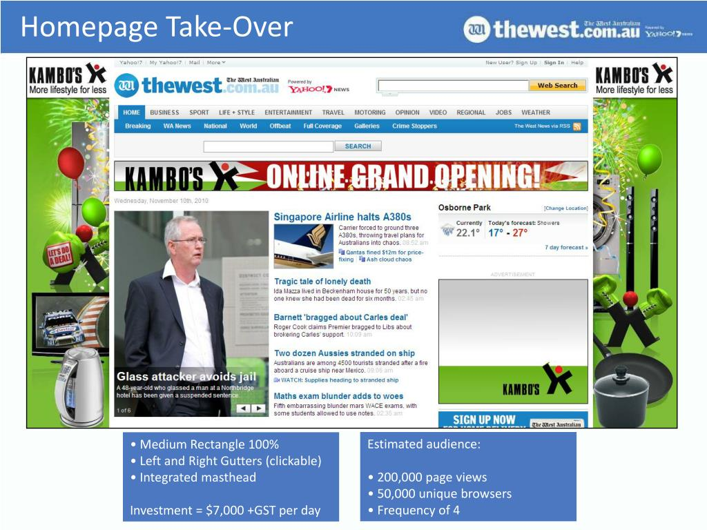 Homepage Take-Over