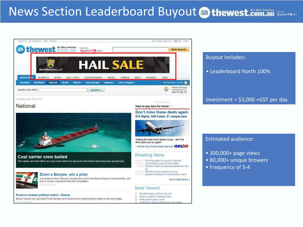 News Section Leaderboard Buyout